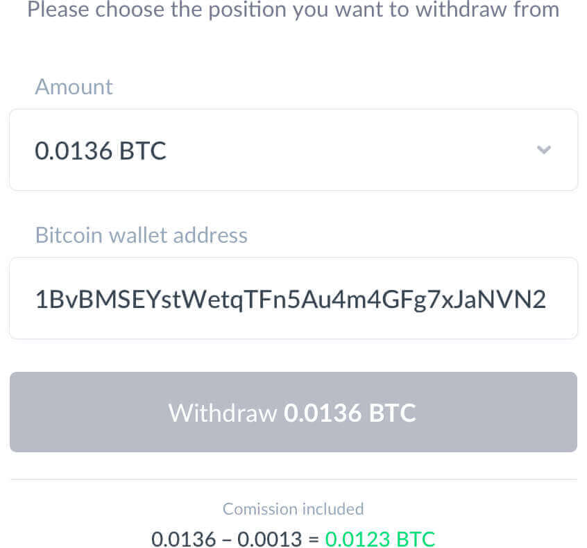 IQ Option - withdrawal of cryptocurrency and fiat